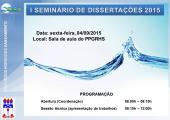 1° Seminário de dissertações de 2015